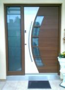 Alu-Haustür mit Seitenteil, Inotherm