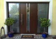 Alu-Haustür mit zwei Seitenteile, Inotherm